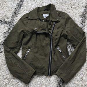 Olive Green Moto Jacket